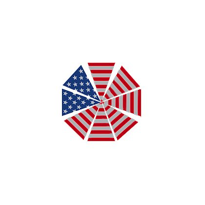 TheFireStore Reflective Triangles for Helmet, Stars and Stripes 2.75