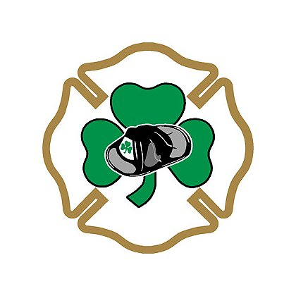 TheFireStore Maltese Cross with Helmet in Shamrock