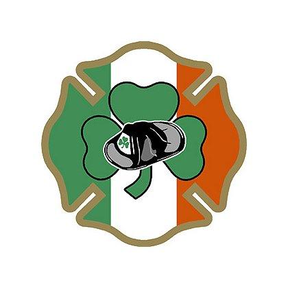 TheFireStore Irish Maltese Cross with Shamrock and Helmet