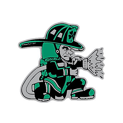 Decal TheFireStore Exclusive Reflective Fighting Irish with Hose, 2