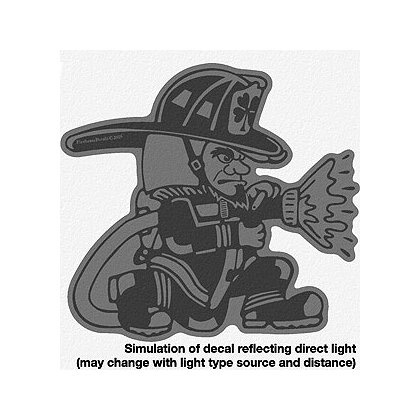 TheFireStore Fighting Irish with Hose, Black Reflective, 2