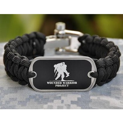 Survival Straps Black with Wounded Warrior Project Tag