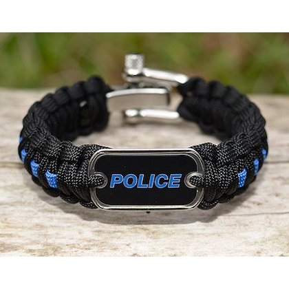 Survival Straps: Blue Line with Police Tag