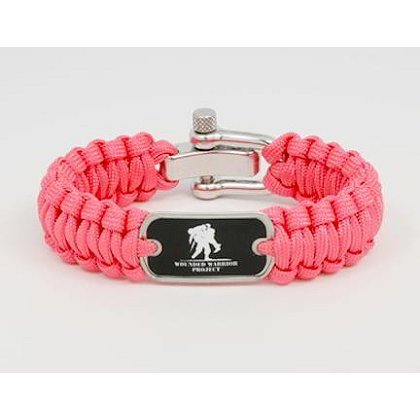 Survival Straps: Pink with Wounded Warrior Project Tag