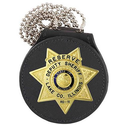 Strong Double Thick Recessed Badge Holder with Chain for Neck
