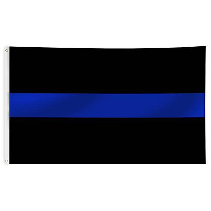 Thin Blue Line USA Thin Blue Line Black Flag