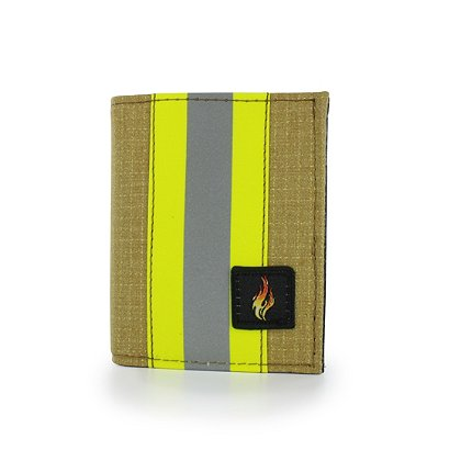 TheFireStore Exclusive Bunker Gear Gold PBI & Triple Trim Dress Wallet