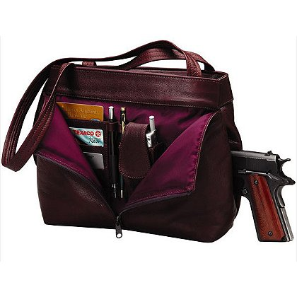 Triple K Leather Deluxe Pistol Purse