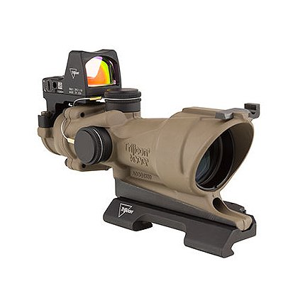 Trijicon ACOG 4x32 Scope, Center Illumination Amber Crosshair Reticle w/3.25 MOA RMR Sight
