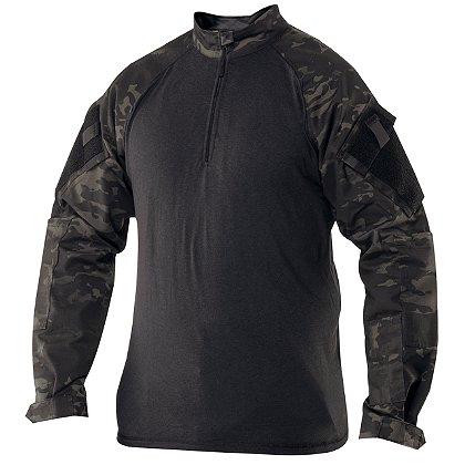 Tru-Spec 1/4 Zip CombaT-Shirt, MultiCam Black