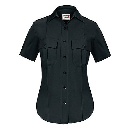 ELBECO TexTrop Women's Stretch 100% Polyester Dress Uniform Shirt, Short Sleeve