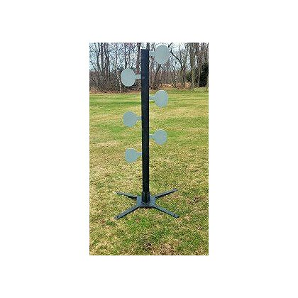 TerraTek: 6 Paddle Dueling Tree Target AR500 Steel w/ 6 3/8