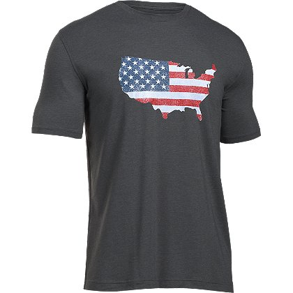 Under Armour: Men's HeatGear Freedom Flag Map T-Shirt