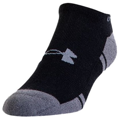 Under Armour Resistor 3.0 No Show Socks, 6 Pack