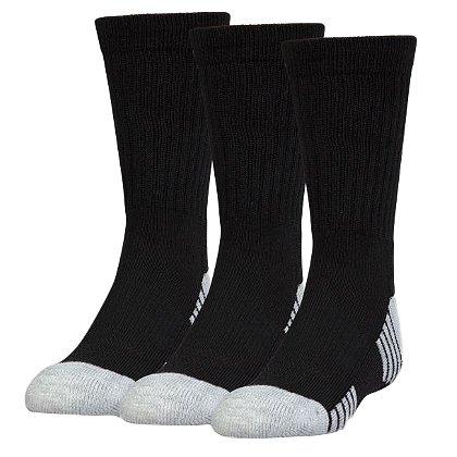 Under Armour HeatGear Tech Crew Socks, 3 pack