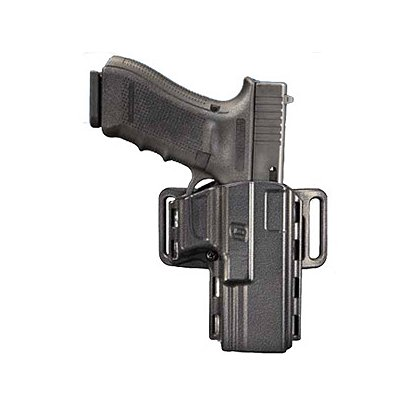 Uncle Mike's: Reflex Holster with Paddle, Belt Loop, Black, Right Hand