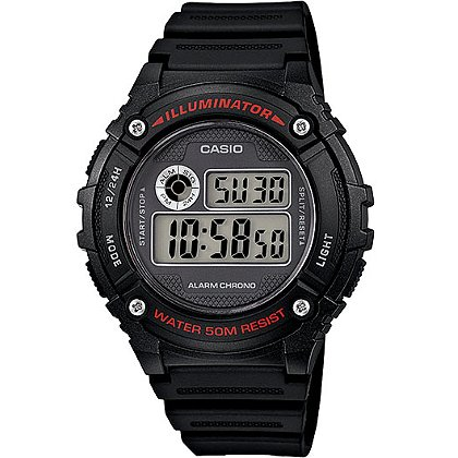 Casio: Classic Digital Sports Watch  w/ LED Light