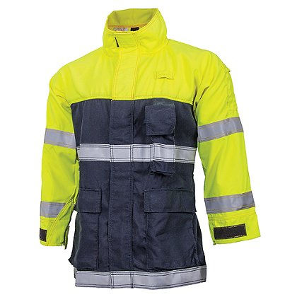 Crew Boss Hi Viz Interface Wildland, Fire-Rescue, EMS Coat NFPA 1977, ANSI 107