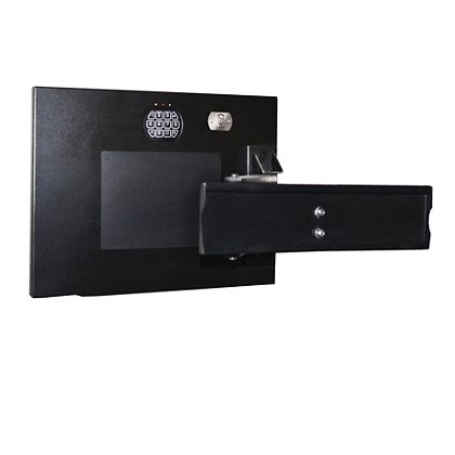 GunVault: TV Mount Wall Vault, Black