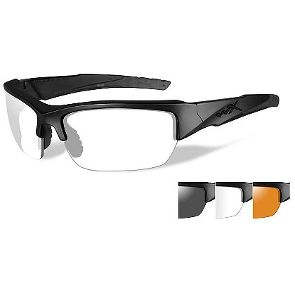 Wiley X: Black Ops WX Valor with Smoke Grey, Clear & Rust Lenses
