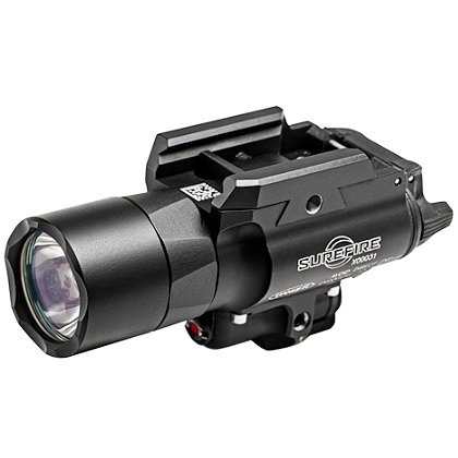 "SureFire: X400 Ultra LED and Laser Site Weaponlight, 2 SF123A Batteries, 500 Lumens, 3.8"" Long"