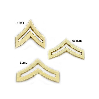 Smith & Warren Collar Pins, Corporal Chevron, Pair