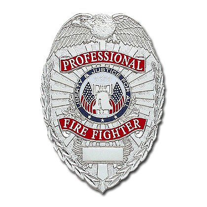 Smith & Warren Stock Badge, Professional Firefighter