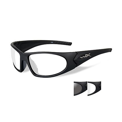 Wiley X: Romer 3, Grey/Clear Lenses with Matte Black Frame
