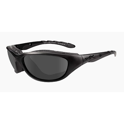 Wiley X AirRage Black Ops Sunglasses, Smoke Grey Lens, Matte Black Frame