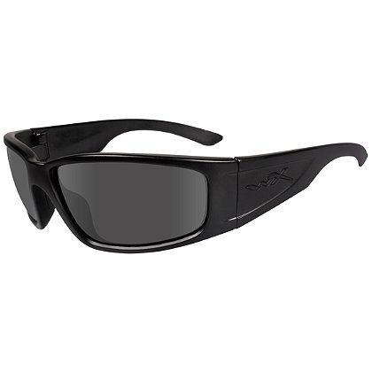 Wiley X Zak Black Ops Sunglasses, Smoke Grey Lens, Matte Black Frame