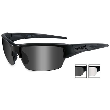 Wiley X Saint, Smoke Grey & Clear Lens, Matte Black Frame