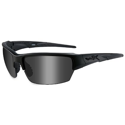 Wiley X Saint Black Ops Sunglasses, Smoke Grey Lens, Matte Black Frame