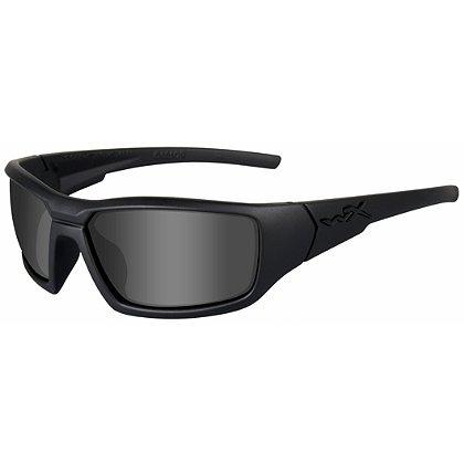 Wiley X: Censor  Black Ops Sunglasses, Polarized Smoke Grey Lens, Matte Black Frame