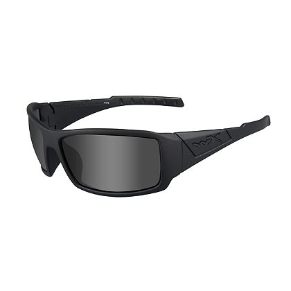 Wiley X Twisted Black Ops Sunglasses, Polarized Smoke Grey Lens, Matte Black Frame