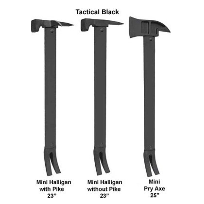 Zak Tool: Mini Halligan & Mini Pry Axe Tactical Entry Tool, Black