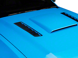 Hood Vent Accent Decal - Brushed Black (13-14 All)
