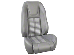 TMI Premium Sport R500 Upholstery & Foam Kit - Gray Vinyl & White Stripe/Stitch (87-93 All)