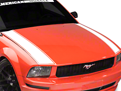 American Muscle Graphics Outer Hood Stripe - White (05-09 All)