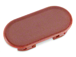 Center Console Oval Access Plug - Red (87-93 All)