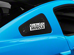 AmericanMuscle Quarter Window Decal - White (05-14 All)