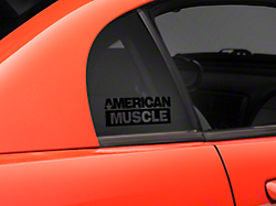 AmericanMuscle Quarter Window Decal - Black (94-04 All)