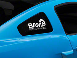 Bama Performance Quarter Window Decal - White (05-14 All)