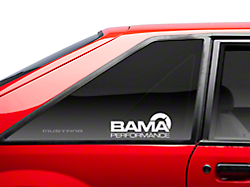 Bama Performance Quarter Window Decal - White (79-93 All)
