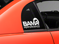 Bama Performance Quarter Window Decal - White (94-04 All)
