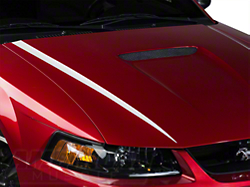 White Hood Accent Decal (99-04 GT; 99-02 V6)
