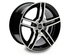 2010 GT500 Style Black Machined Wheel - 18x10 (94-04 All)