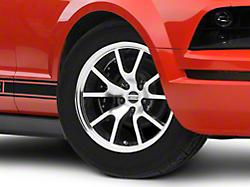 FR500 Style Black Machined Wheel - 17x9 (05-14 V6; 05-10 GT)