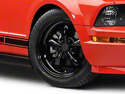 Bullitt Solid Black Wheel - 18x8 (05-14 GT, V6)