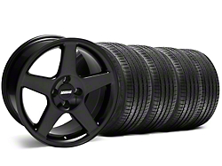 2003 Cobra Style Black Wheel & Sumitomo Tire Kit - 17x9 (87-93; Excludes 93 Cobra)