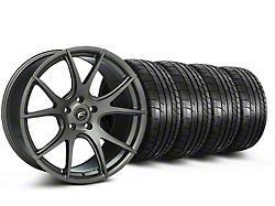 Forgestar Staggered CF5V Monoblock Gunmetal Wheel & Mickey Thompson Tire Kit - 19x9/10 (05-14 All)